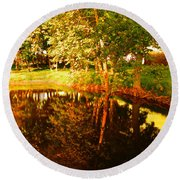 Golden Pond 4 Round Beach Towel