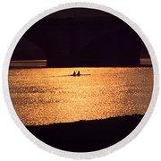 Golden Potomac Round Beach Towel