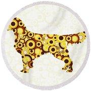 Golden Retriever - Animal Art Round Beach Towel