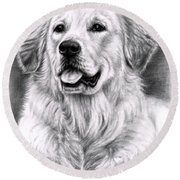 Golden Retriever Spence Round Beach Towel