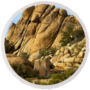 Golden Rocks Of Hidden Valley Round Beach Towel