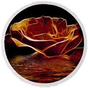 Golden Rose Round Beach Towel