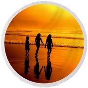 Golden Sands  Round Beach Towel