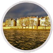 Golden Seine Round Beach Towel
