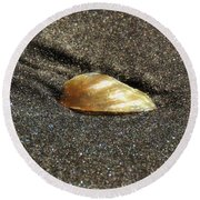 Golden Shell Round Beach Towel