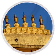 Golden Spires Udaipur City Palace India Round Beach Towel
