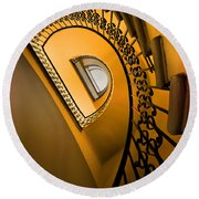Golden Staircase Round Beach Towel