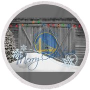 Golden State Warriors Round Beach Towel
