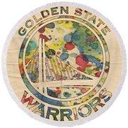 Golden State Warriors Logo Art Round Beach Towel