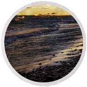 Golden Superior Shore Round Beach Towel