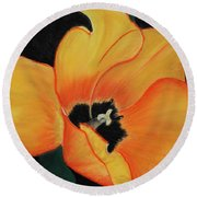 Golden Tulip Round Beach Towel
