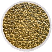 Golden Water Round Beach Towel