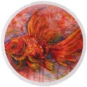 Goldfish Round Beach Towel