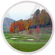 Golf Course At Lake Toxaway Round Beach Towel