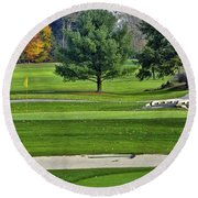 Golf Course Guardians Round Beach Towel