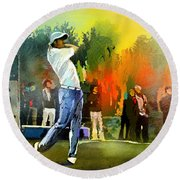Golf In Gut Laerchehof Germany 01 Round Beach Towel