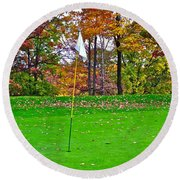 Golf My Way Round Beach Towel by Frozen in Time Fine Art Photography