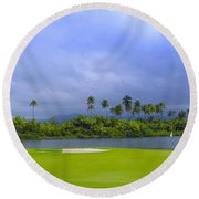 Golfer's Paradise Round Beach Towel by Stephen Anderson