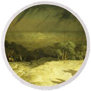 Golgotha Round Beach Towel by Jean Leon Gerome