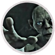 Gollum Round Beach Towel