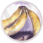 Gone Bananas 2 Round Beach Towel