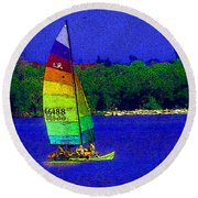Gone For A Sail Round Beach Towel