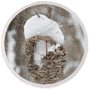 Gone South For The Winter Round Beach Towel