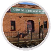 Gone With The Wind Museum Round Beach Towel