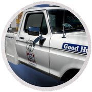 Good Humor Ice Cream Truck 02 Round Beach Towel