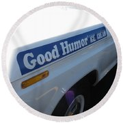 Good Humor Ice Cream Truck 03 Round Beach Towel