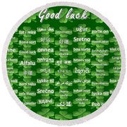 Good Luck Round Beach Towel