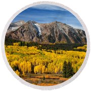 Good Morning Colorado Round Beach Towel