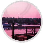 Good Mystic Morning Round Beach Towel