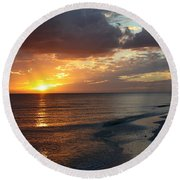 Good Night Sanibel Island Round Beach Towel