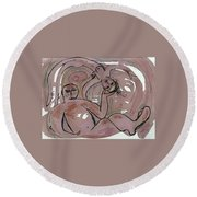 Good Together Round Beach Towel