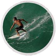 Good Waves Good Body Round Beach Towel