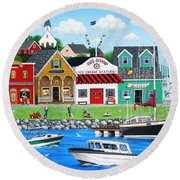 Goodies By The Sea Round Beach Towel