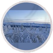 Goodnight Chugach Round Beach Towel