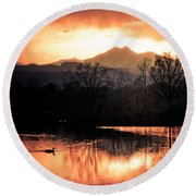 Goose On Golden Ponds 1 Round Beach Towel