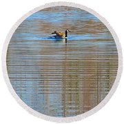 Goose Ripples Round Beach Towel