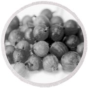 Gooseberries Round Beach Towel