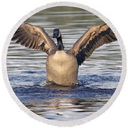 Gooseflapping 3 Round Beach Towel