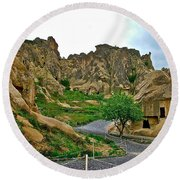 Goreme Open Air Musuem With Six Early Christian Churches In Capp Round Beach Towel