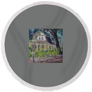 Gorge White House Round Beach Towel