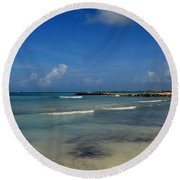 Gorgeous Beach In Aruba Round Beach Towel