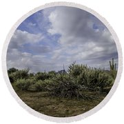 Gorgeous Cloud Cover Round Beach Towel