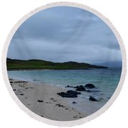 Gorgeous Coral Beach On Skye In Scotland Round Beach Towel