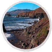 Gorgeous Sonoma Coast Round Beach Towel