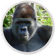 Gorilla Headshot Round Beach Towel