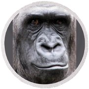 Gorilla - Jackie Round Beach Towel